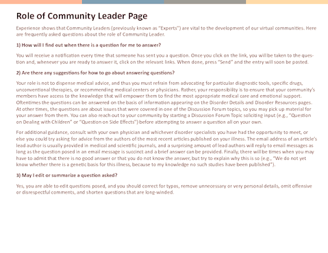 Thumb role of community leader page